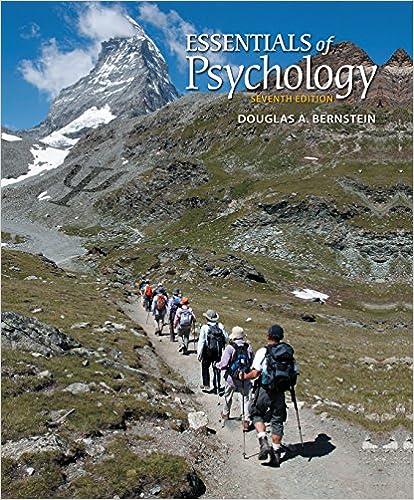 Essentials of Psychology 7th Edition Douglas Bernstein
