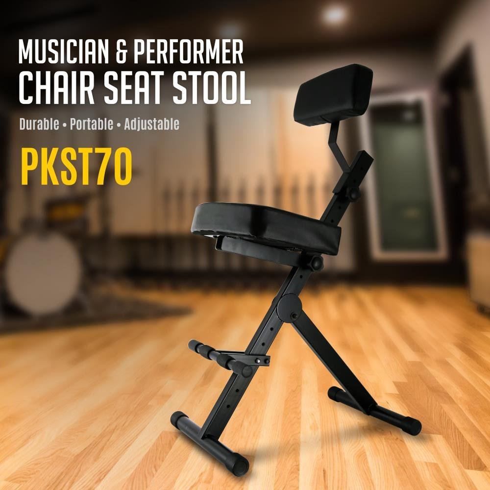 Guitar practice chair - Amazon Com Pyle Pkst70 Durable Portable Adjustable Musician And Performer Chair Seat Stool Pyle Musical Instruments