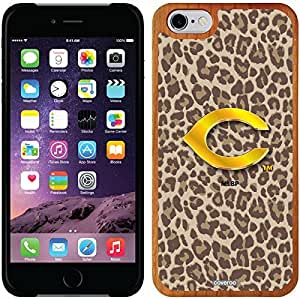 fashion case iphone 5c Madera Wood Thinshield Case with Cincinnati Reds Leopard Print Design