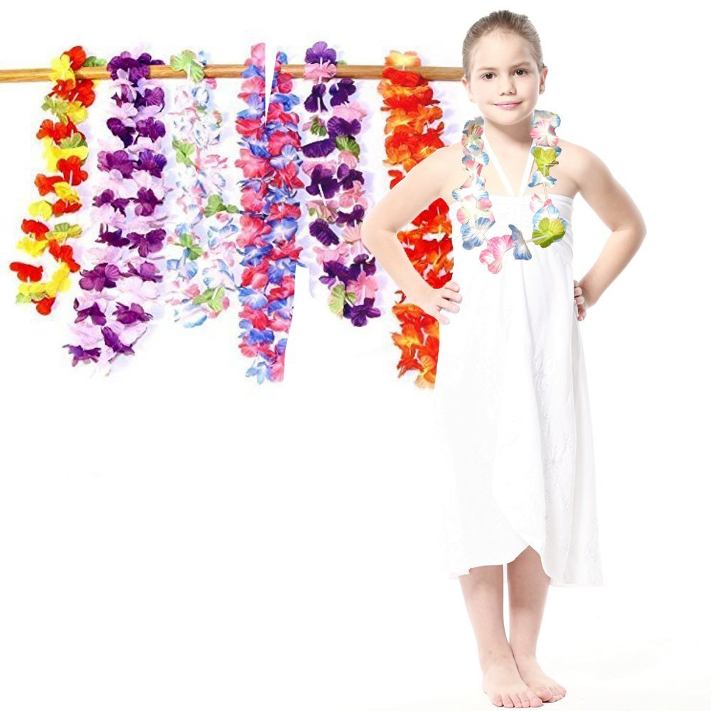 Amazon dazzling toys ruffle hawaiian flower leis silk 24 pack amazon dazzling toys ruffle hawaiian flower leis silk 24 pack 2 dozen assorted flower necklace luau party supplies for holiday events bat mitzvah izmirmasajfo