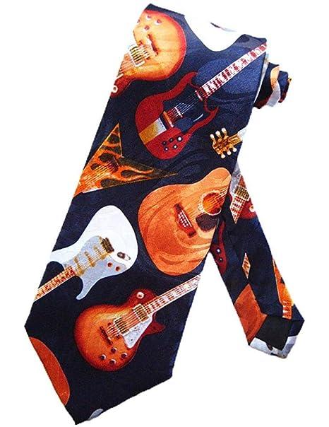 Corbata Corbata De Guitarra Eléctrica Y Acústica Corbata Azul ...
