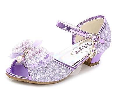 16892cbfc6c39 Bumud Girl's Low Medium Heel Dress Sandal Flower Girl Shoes(Toddler/Little  Kid)
