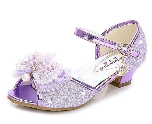 8b6a4678180f1 Bumud Girl's Low Medium Heel Dress Sandal Flower Girl Shoes(Toddler/Little  Kid)