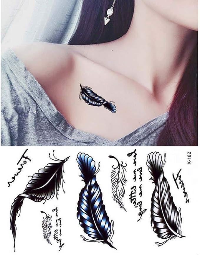 adgkitb 5 Piezas de Tatuaje de Cuerpo Coloreado Impermeable diseño ...