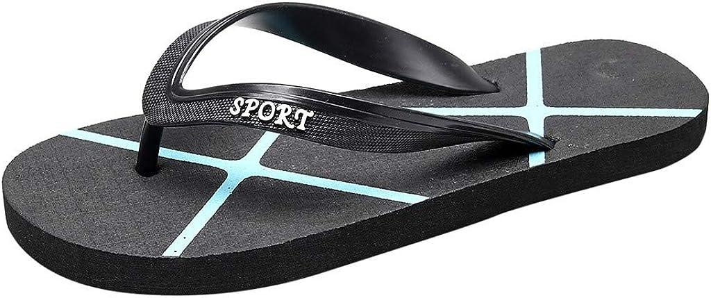 XLnuln Summer Flip Flops Mens Shoes Womens Shoes Beach Slip Flat Bottom Pin Slippers Casual Flats Sandals