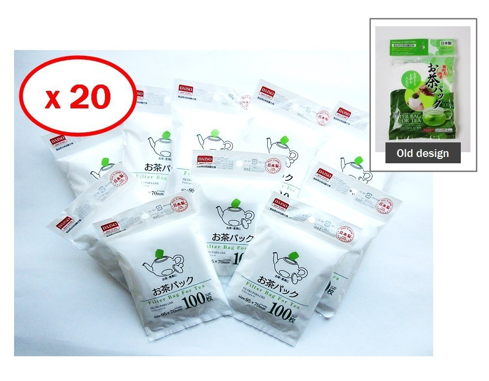 20x100pcs Disposable Filter Bags for Loose Tea by Daiso