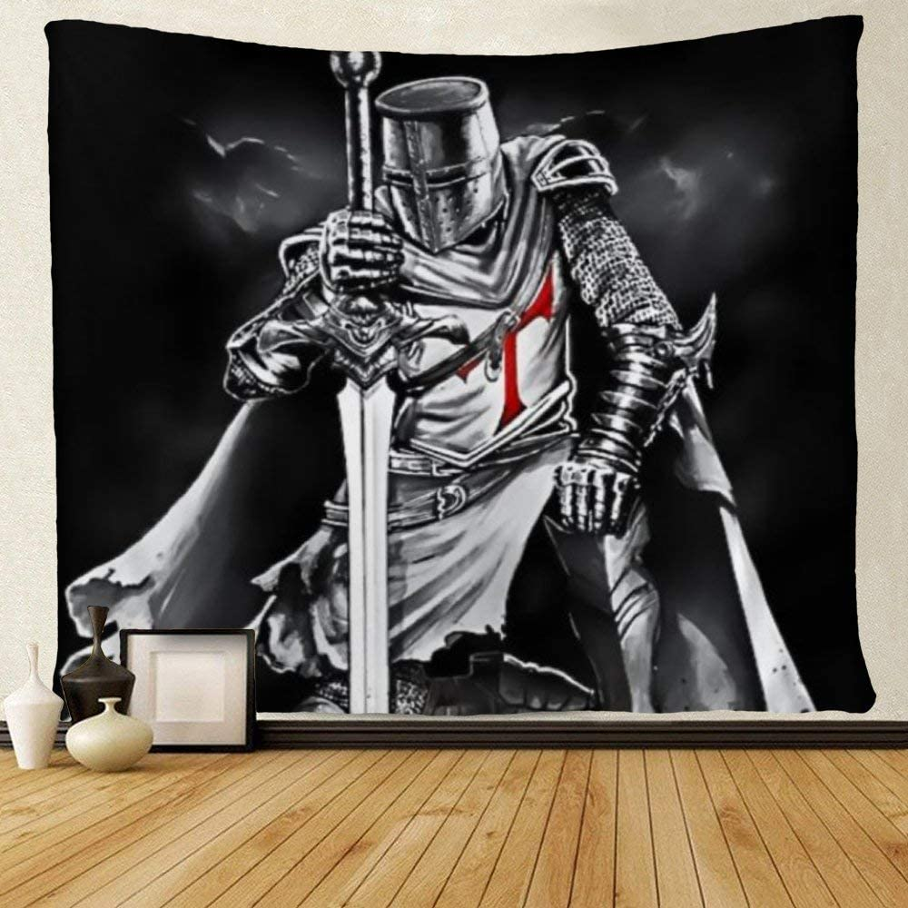 SARA NELL Wall Tapestry Knight Templar Tapestries Wall Hanging for Home Decoration Wall Art for Living Room Bedroom Dorm Decor 50x60 inches
