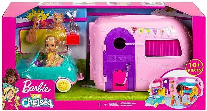Oferta amazon: Barbie - Chelsea Muñeca y Su Caravana, con Perrito y Accesorios (Mattel FXG90)