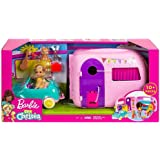 Barbie FXG90 Club Chelsea Camper Playset with Chelsea Doll, Puppy, Car, Camper, Firepit, Guitar and 10 Accessories, Gift…