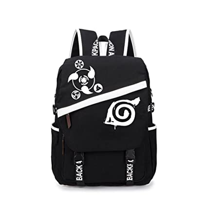 6cd4932cea Anime Unisex Multifunctional backpack Canvas School Backpack Cartoon Casual  Rucksack Book Bags (Naruto): Amazon.co.uk: Luggage