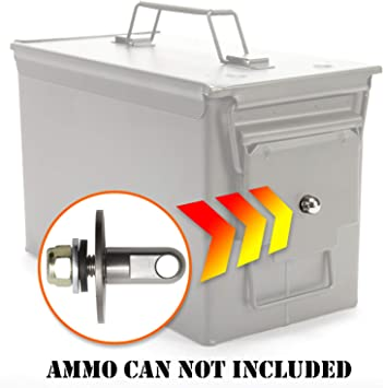 Amazon Com Army Force Gear Ammo Can Locking Hardware Kit Stainless Steel Lock Hardware For Ammo Cases One Size Fits All Ammo Box Lock Kit 50 Cal Fat 50 30
