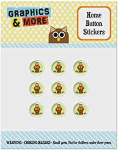 Junior Gorg Fraggle Rock Radish Set of 9 Puffy Bubble Home Button Stickers Fit Apple iPod Touch, iPad Air Mini, iPhone 5/5c/5s 6/6s 7/7s Plus