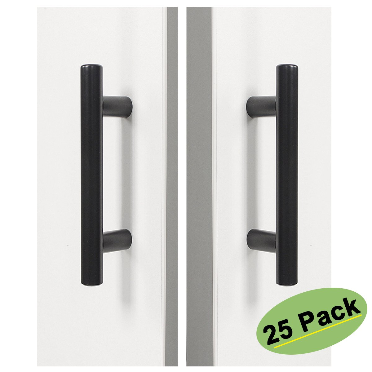homdiy 3 in Cabinet Handles Black Cabinet Pulls 25 Pack - HD201BK 3in Cabinet Hardware Pulls Black Drawer Pulls and Knobs for Kitchen Furniture, Bathroom, Wardrobe, Closet