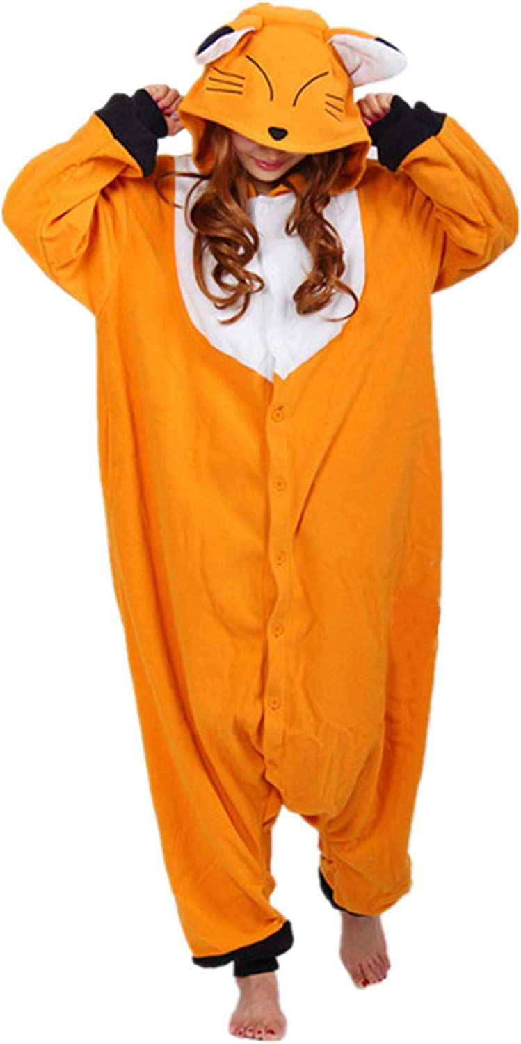 WOTOGOLD Animal Cosplay Costume Fox Unisex Adult Pajamas