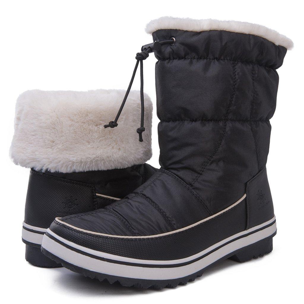GLOBALWIN's Women's Adeline Winter Snow Boots B072C63RX3 10.5 B(M) US|1720 Black