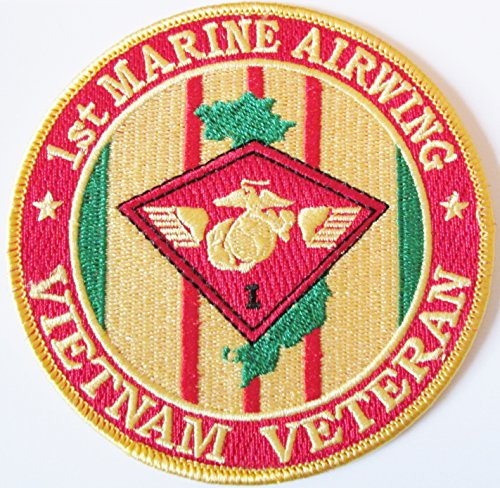 1ST MARINE AIR WING*VIETNAM VETERAN* 4 INCH ROUND PATCH. 2 PATCHES PER ORDER.(Can be sewn or ironed on jacket or hat) 2 PER ORDER
