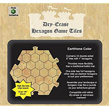 Amazon Com Dry Erase Hexagon Dungeon Tiles Pack Of 33