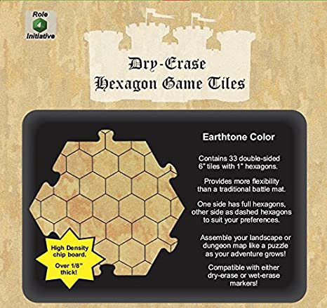 Dry Erase Hexagon Game Tiles | Games World