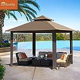 Elite Shade 12x12 feet Titan Outdoor Garden Backyard Gazebo With Sunbrella Fabric (Cocoa)