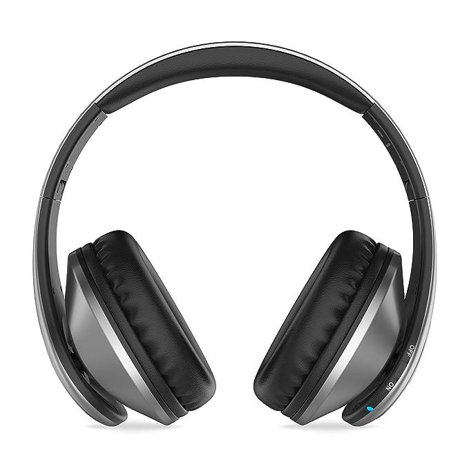 Picun P7 Over-Ear Auriculares inalámbricos Bluetooth Auriculares plegables ligeros con micrófono de sonido estéreo Radio FM para el iPhone 7 7s y otros ...
