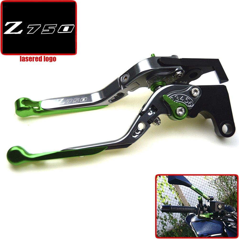 2011 e 2012 2009 2008 2010 Leva freno e frizione CNC pieghevole e estendibile per moto Kawasaki Z750 non per il modello Z750S 2007