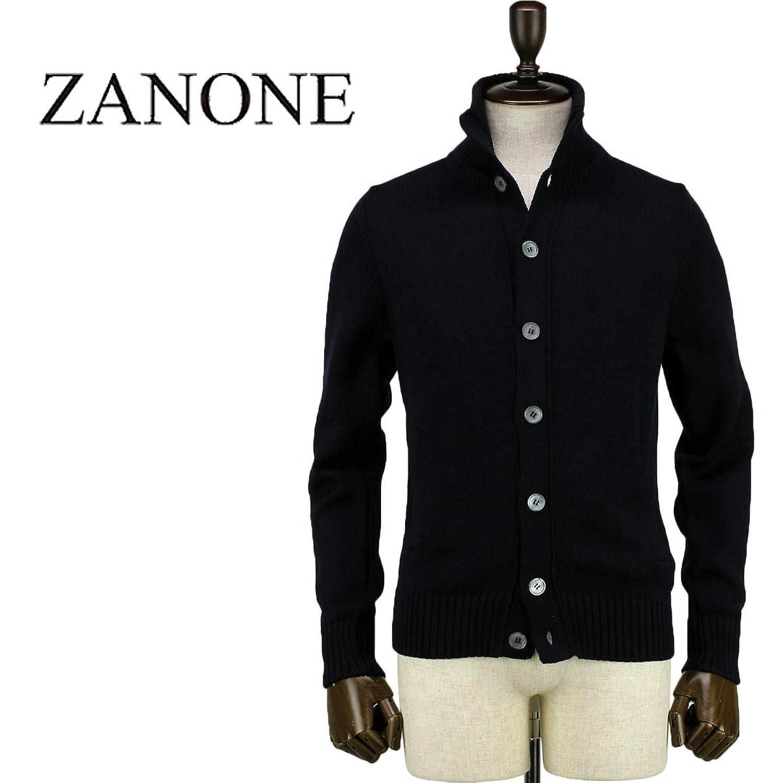 [ZANONE ザノーネ] メンズ ミドルゲージ ウール ニットブルゾン CHIOTO 810740 Z0229 Z1375 (ネイビー) B07FCLJD99 48