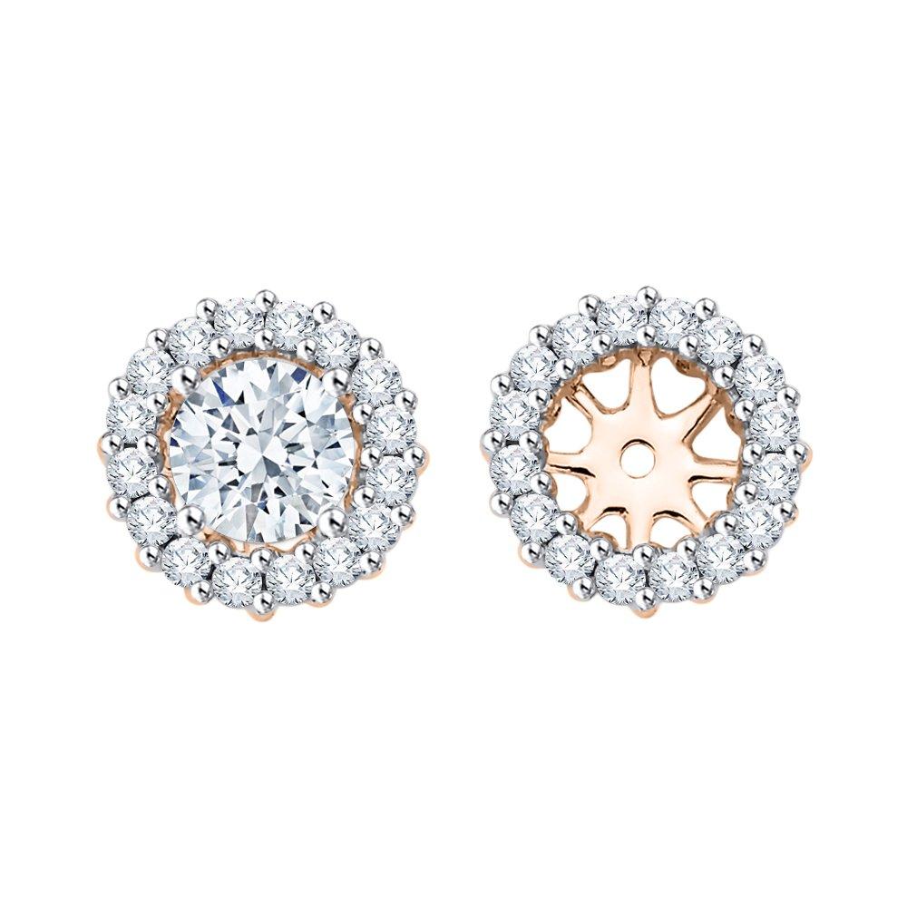 817e181f922 Amazon.com  Diamond Earring Jackets in 14K Rose Gold (1 2 cttw ...