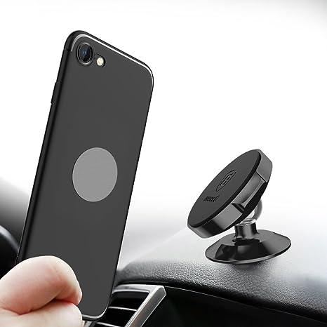 Soporte Móvil para Coche Magnético, Baseus Iman Móvil Coche para iPhone XR/XS Max/X/8/7, Samsung, HTC, XiaoMi, Huawei, Sony Xperia, LG y Otros Smartphones (Negro): Amazon.es: Informática