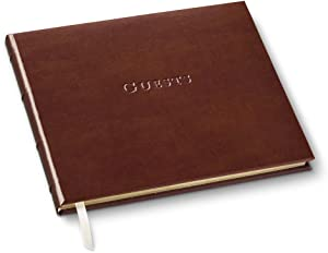 Gallery Leather Guest Book Acadia Tan