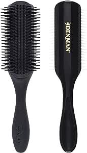 Denman 9 Row Styling Brush, Black, Medium