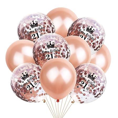 Doitsa - Globos de Confeti de Oro Rosa, decoración para cumpleaños ...