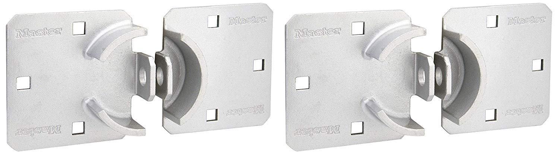 Master Lock Hasp, Solid Steel Hidden Hasp, 9 in. Wide, 770, 2 Pack