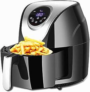 Hchao Electric Air Fryer Oven,Digital Touchscreen Air Fryers,1400w Oilless Low-Fat Chip Fryer,8 Preset Menus, Oil Free Hot Cooker, Nonstick Basket,30 Min Timer