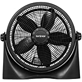 Hurricane Floor Fan - Classic Adjustable 16 inch - 360 Degree Vertical Tilt