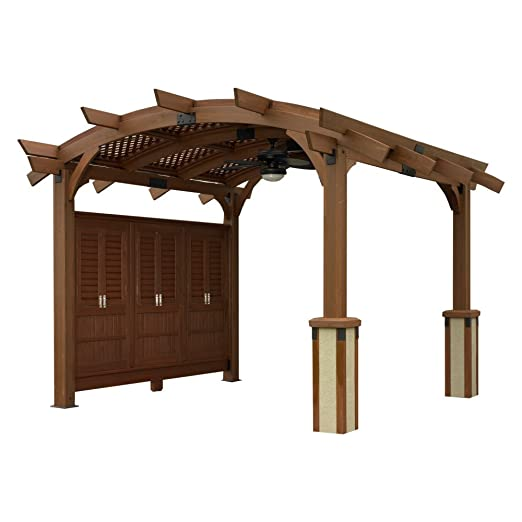 Sonoma 12 x 12 ft. Arco Madera Pergola: Amazon.es: Productos para ...