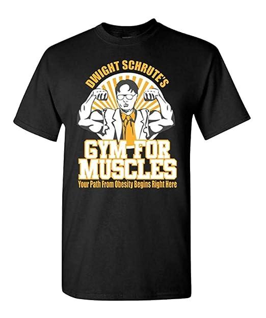 e7ee2f18 Dwight Schrute Gym for Muscles Men's Logo T-Shirt | Amazon.com