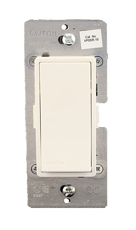leviton vp0sr-10z, vizia + digital coordinating remote switch, 3-way or  more applications, white/ivory/light almond - wall light switches -  amazon com