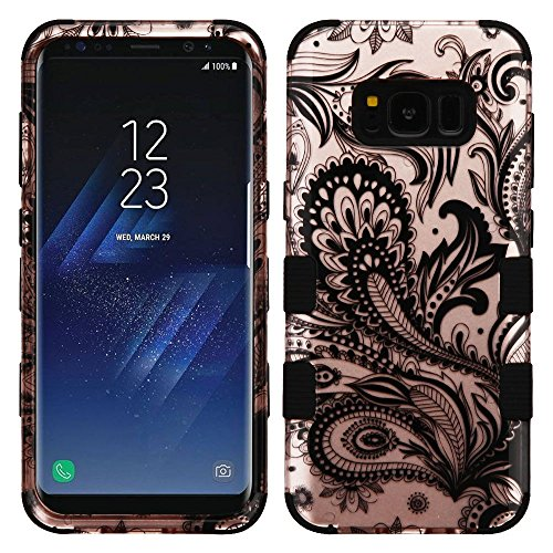 Price comparison product image MyBat Cell Phone Case for SAMSUNG Galaxy S8 - Phoenix Flower (2D Rose Gold)/Black