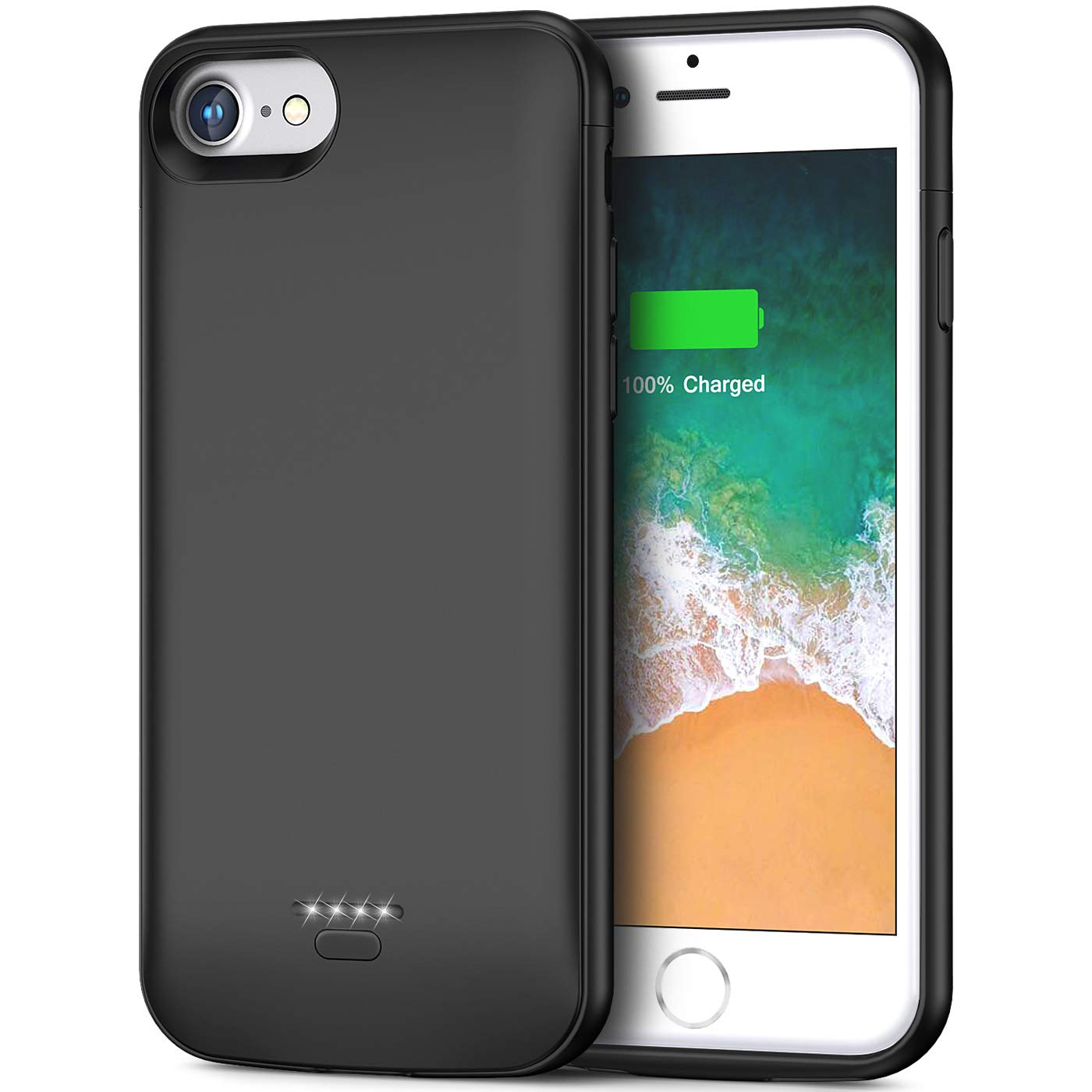 Battery Case for iPhone 6 6s, 4000mAh Portable Protective Charging Case for iPhone 6 6s(4.7 inch) Extended Battery Charger Case-(Black) by Smiphee