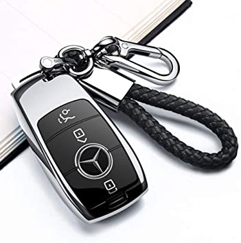 2017 up W213 Keyless Smart Key Fob/_ Soft TPU Super Durable Key Case Cover for Mercedes Benz E Class S Class Blue Uxinuo Compatible with Mercedes Benz Key Fob Cover
