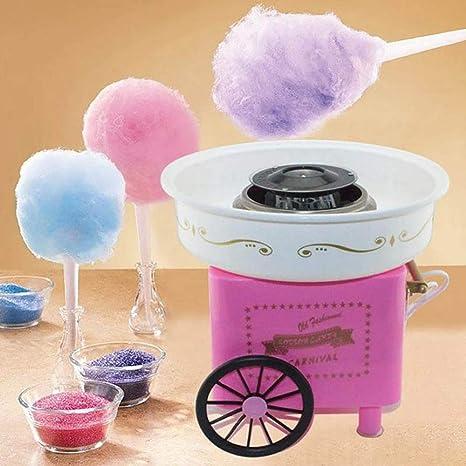 Kimmyer Máquina automática de algodón de azúcar para Uso doméstico, Ranura Inferior de Acero Inoxidable, Tubo de calefacción de cerámica, Funcionamiento con un Solo botón, para Uso Personal: Amazon.es