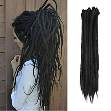 Amazoncom Aosome 20pcspack Crochet Dreadlock Extensions