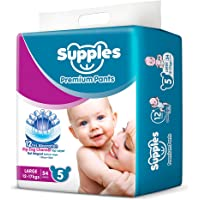 Supples Pant Style Diaper, Size 5, 12-17 kgs, 54 count