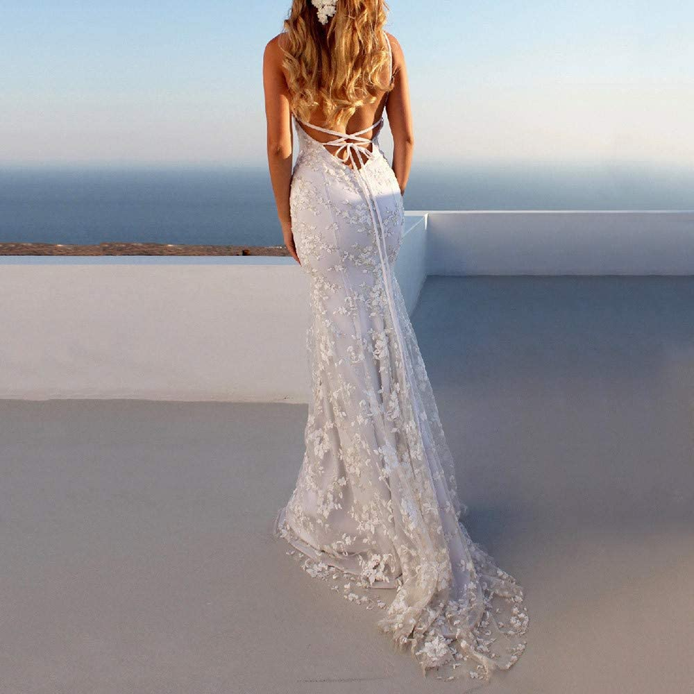 Vestidos para Mujer, Elegante Vestido de Novia de Encaje Vestidos ...