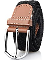Mens Stretch Belt Elastic Fabric Braided Woven Web Canvas Women Leather Unisex Cotton Multicolored Belt