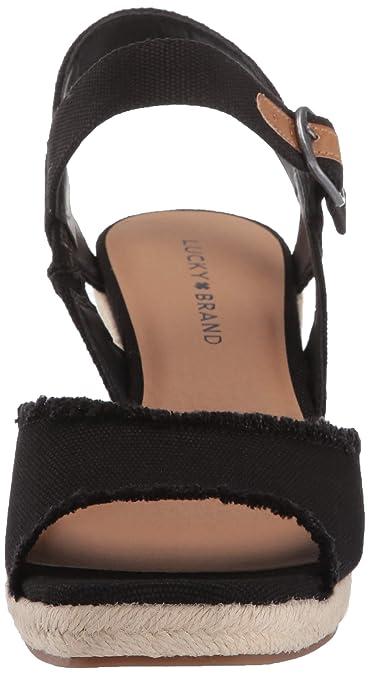 91301734464e1 Lucky Brand Women's Mindra Espadrille Wedge Sandal