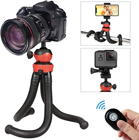 Trípode móvil,Trípode flexible cámara,QHUI trípode smartphone,Mini ...