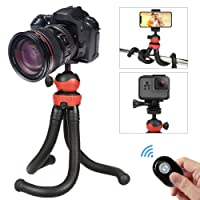 Tripod for Smartphone, QHUI Phone Tripod Stand Mount with Bluetooth Remote Shutter Control,Mini Flexible Octopus Tripod for Gopro,DSLR,Samsung,Huawei,Android Smartphones