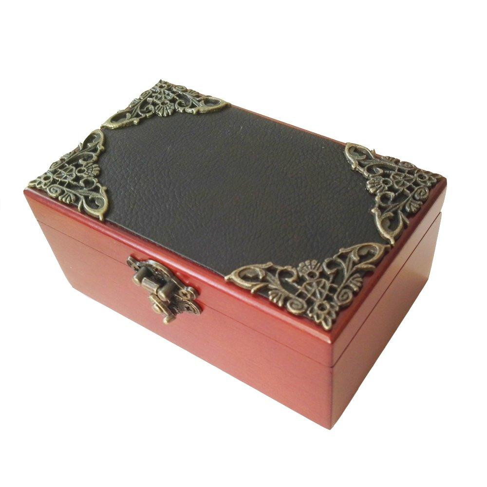 超格安価格 18 NoteアンティークレースWind - & Up Wooden Musicalボックス Up、スモールサイズストレージ音楽ボックス -、Moon River音楽ボックス ゴールド B075SY3FYX Golden & Leather, コンタクトケア専門アイケアプラス:1cbd43b5 --- svecha37.ru