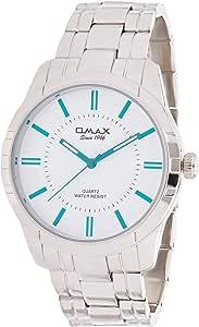 Omax Men's White Dial Metal Band Watch - HSJ865P023